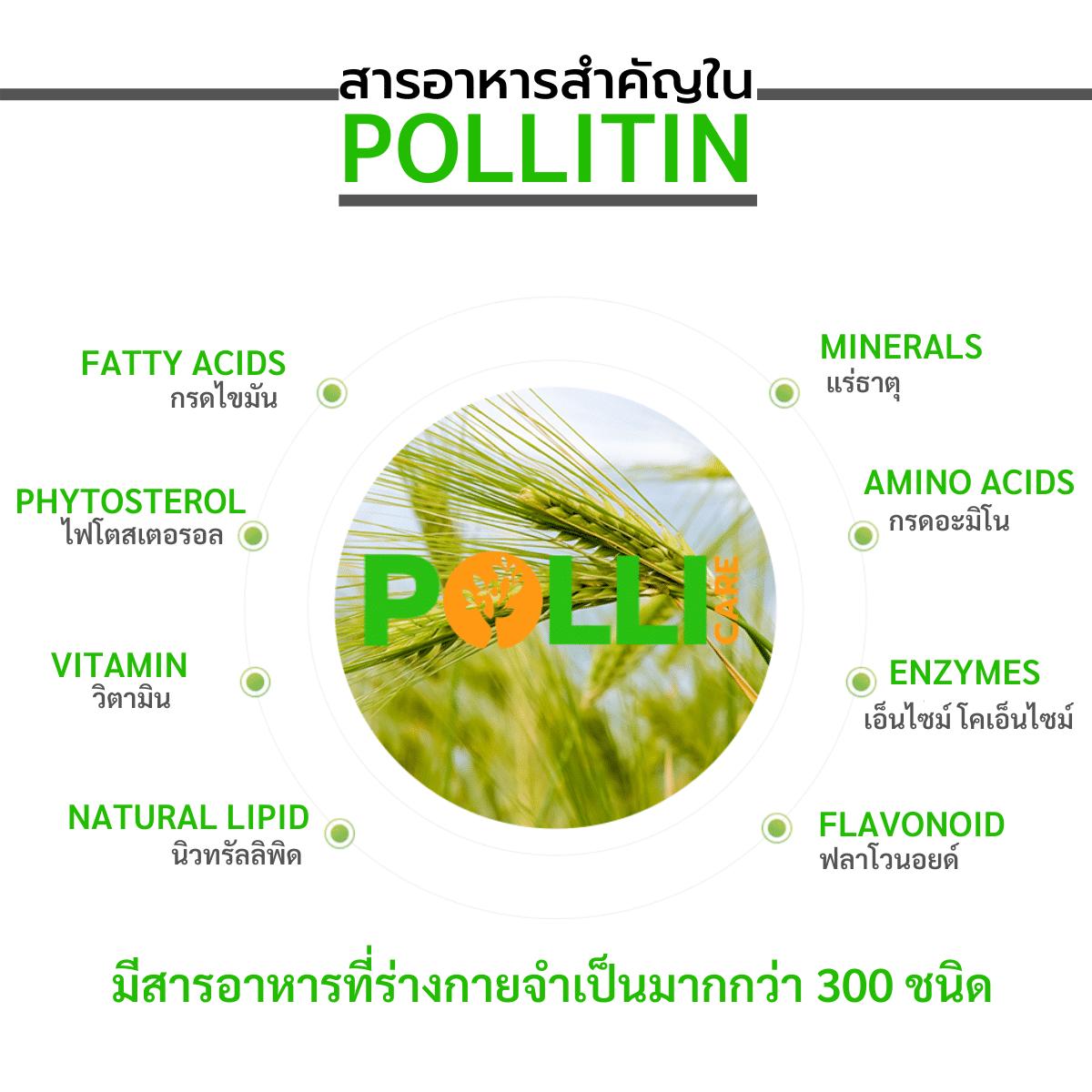 สารอาหารใน พอลลิติน
